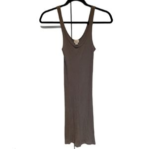 WILFRED pima cotton ribbed tank dress